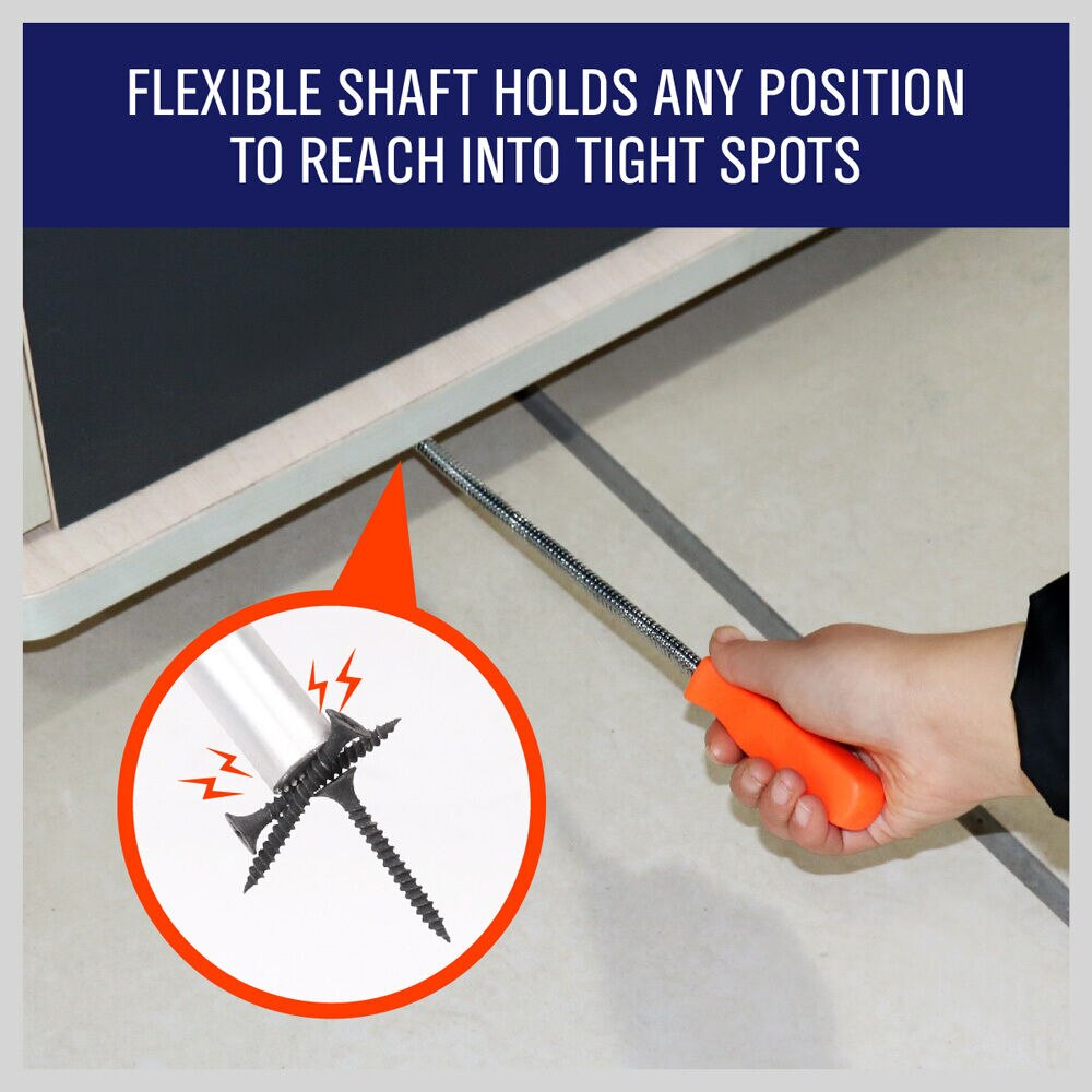 Купить с кэшбэком 60CM Flexible Magnetic Claw Pick Up Tool Magnet Spring Grip Grabber Reacher Pick