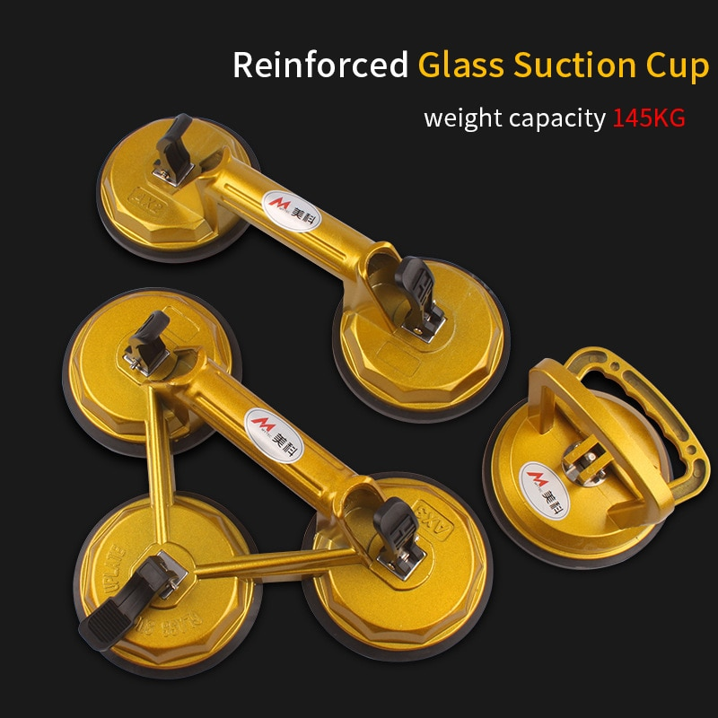 Vacuum Suction Cup Glass Lifter Powerful Glass Tile Carrier Gripper Sucker Plate for Glass Tiles Mirror Granite Lifting Tool