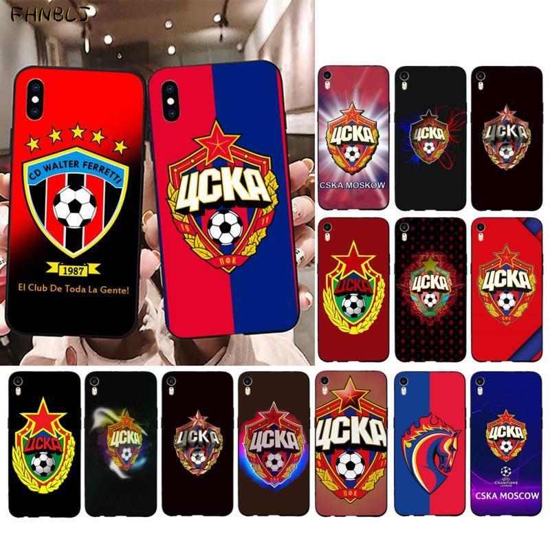Funda de teléfono FHNBLJ Hot Russia con logo PFC CSKA de Moscú, carcasa negra suave para iPhone 11 pro XS MAX 8 7 6 6splus X 5 5S SE 2020 XR
