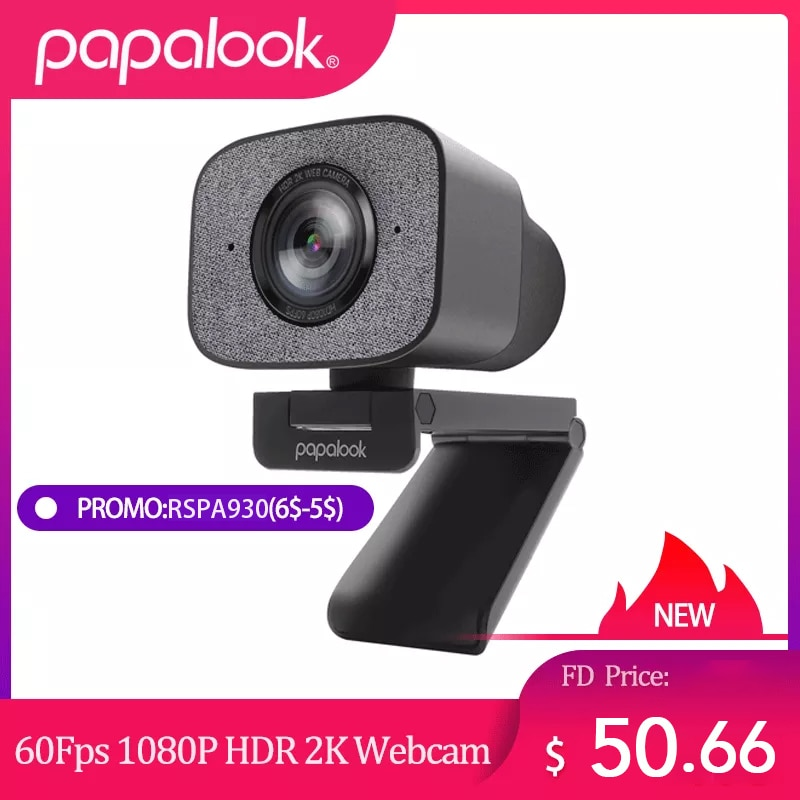 Review 60FPS 1080P Webcam PC, PAPALOOK PA930 2K HDR Streaming Live Web Camera with Dual Stereo Mic 90Degree Angle for OBS/SKYPE/ZOOM