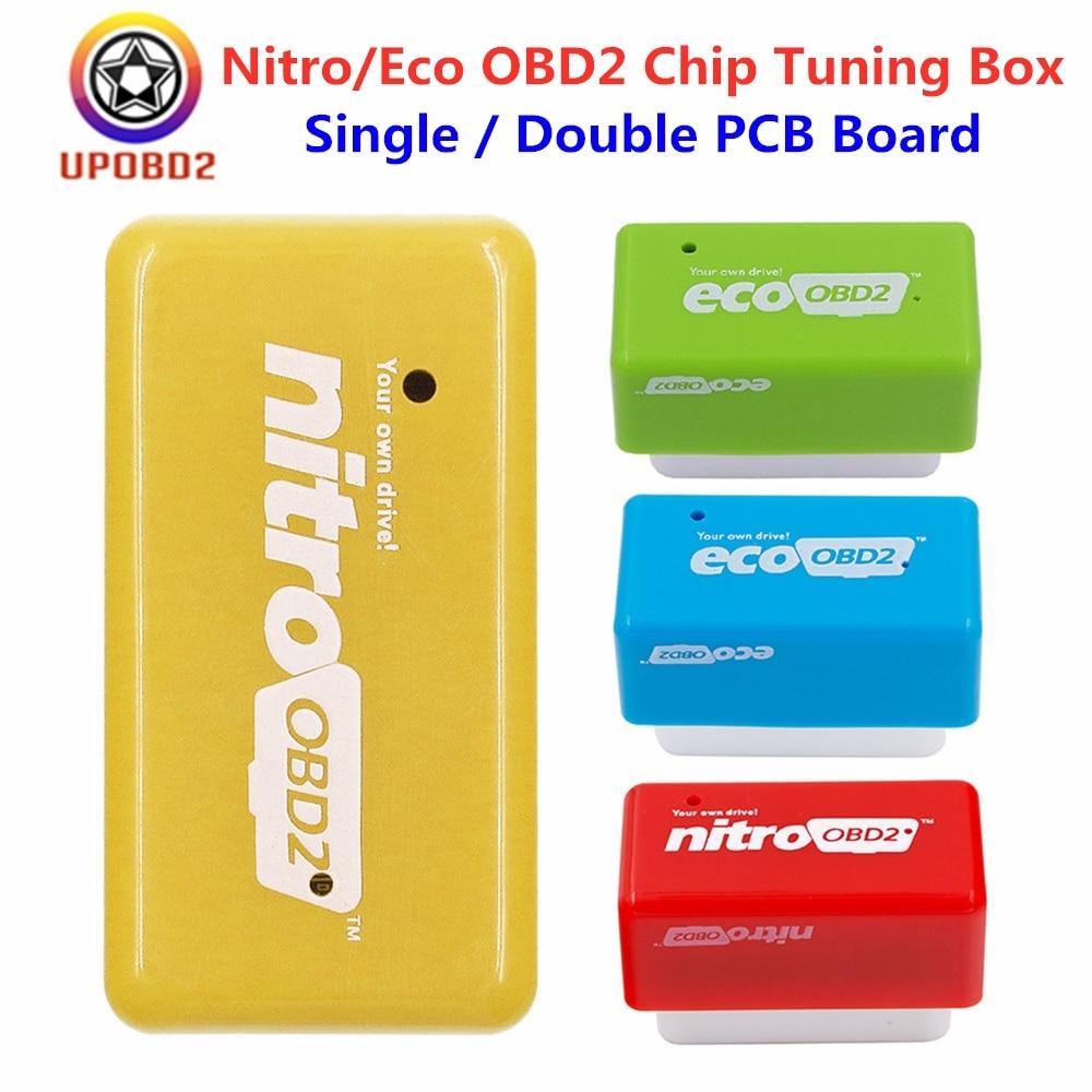 Eco OBD2 Nitroobd2 ECU Chip Tuning Box For Benzine Petrol Diesel Cars 15% Fuel Save More Power Nitro OBD2 Ecoobd 2 Interface