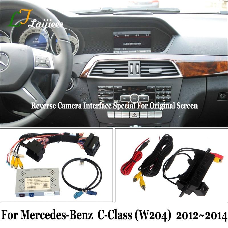 مجموعة كاميرا الرؤية الخلفية للسيارة مع شاشة OEM ، لمرسيدس بنز C-Class W204 2012 2013 2014