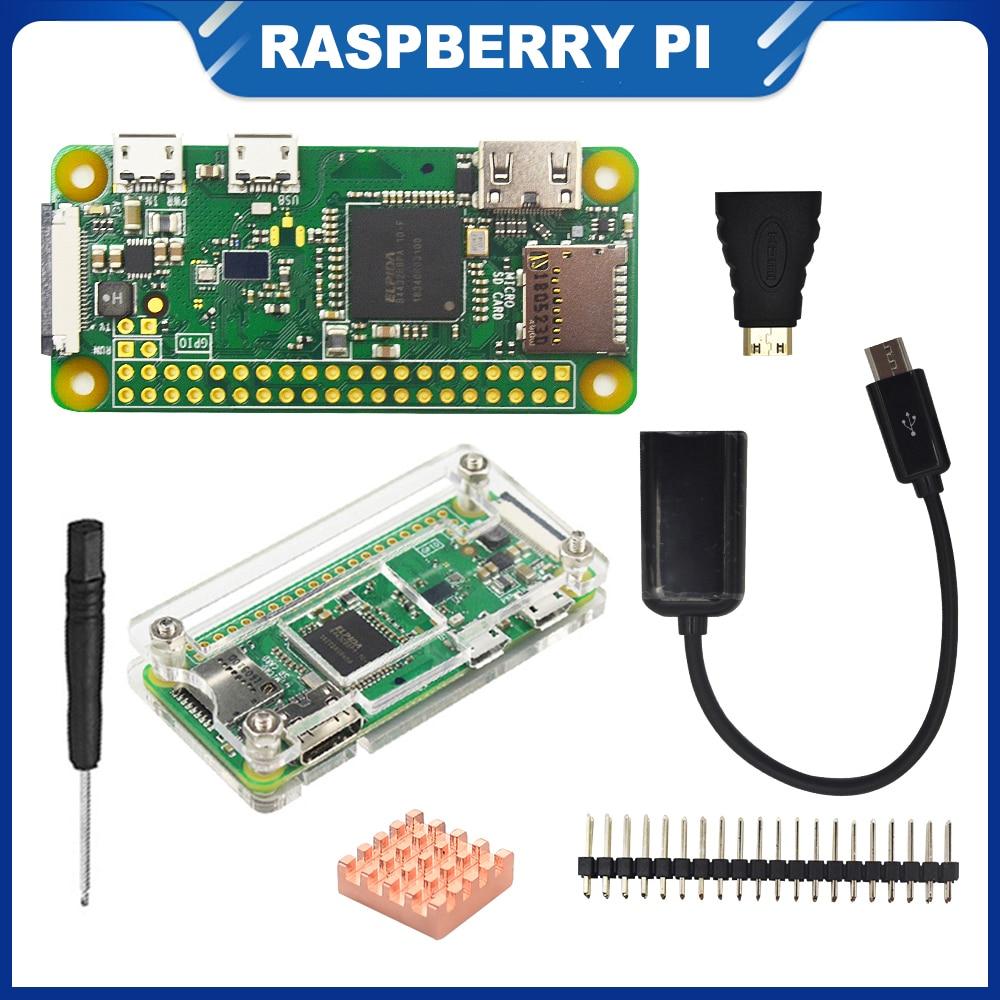 itinit r703 raspberry pi zero w starter kit caso acrilico dissipador de calor