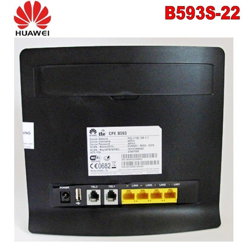 غير مصبوغ-روتور واي فاي الصناعية B593s-22 4G LTE CPE