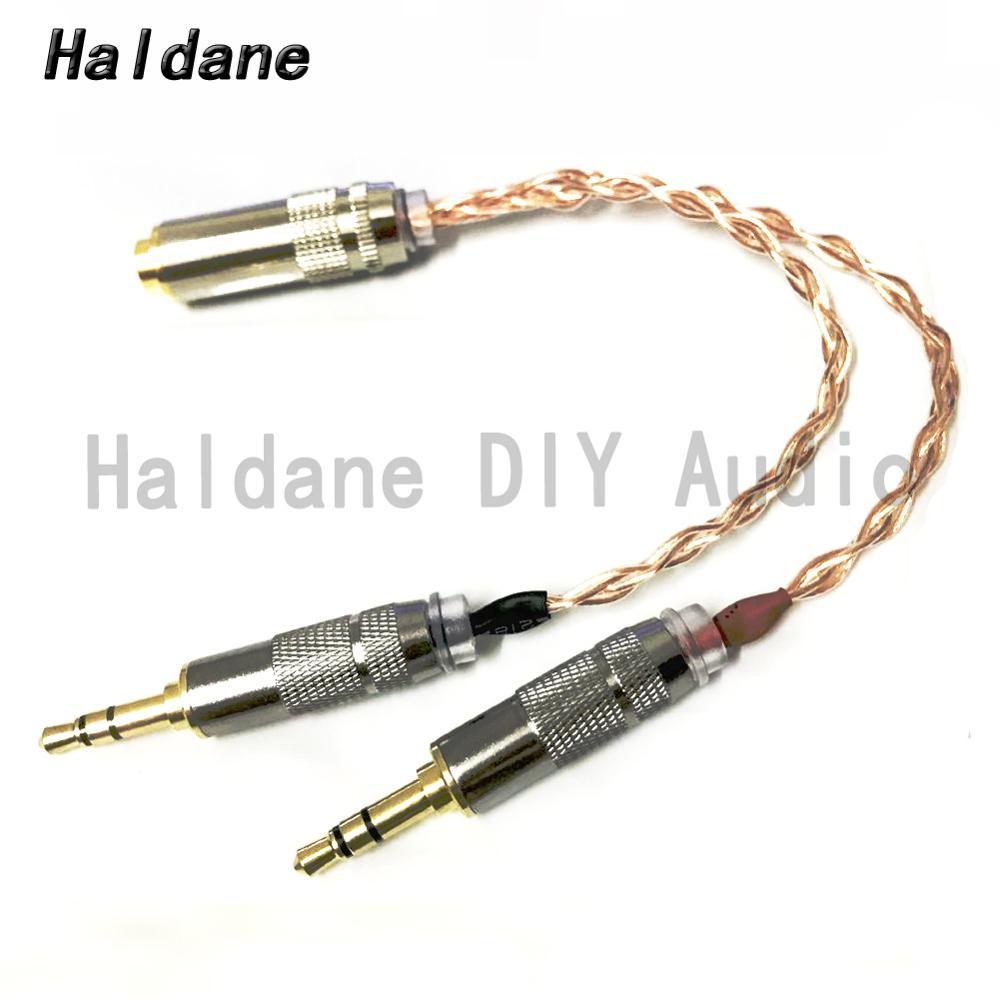 Haldane-Cable adaptador de Audio HIFI para reproductor de mojo, adaptador de cobre...