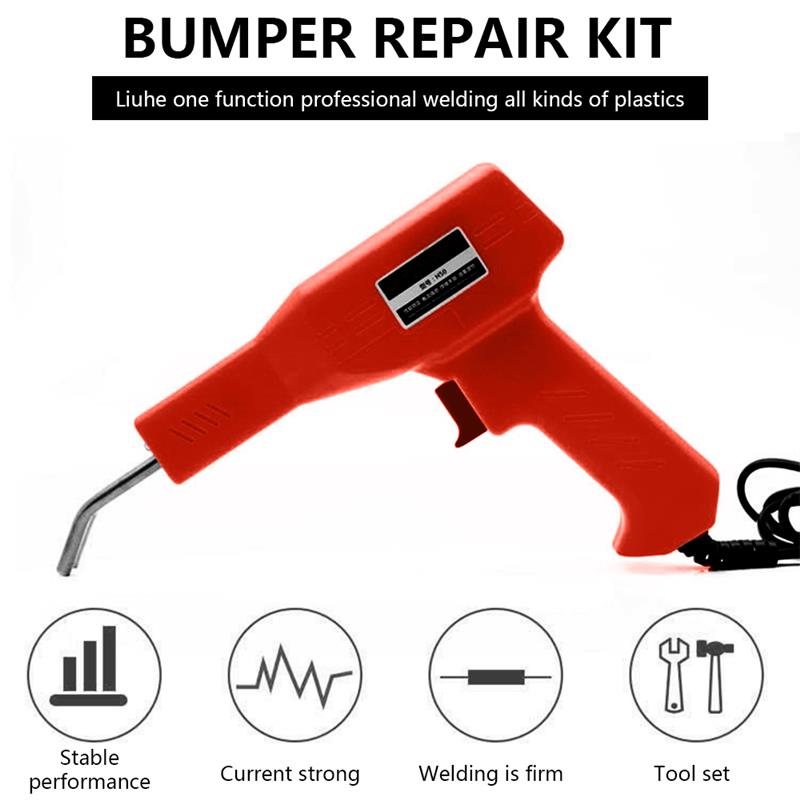 Plastic Welder Set Hot Staplers Machine Handy Car Bumper Repairing Welding Tools With Piler Garage Repair Equipment US EU UK