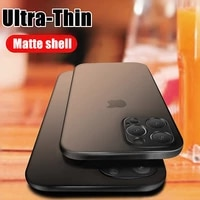 ultra thin 0 2mm matte case for iphone 12 mini x xr xs 11 pro max full cover for iphone se 7 6 6s 8 plus hard pc shockproof case