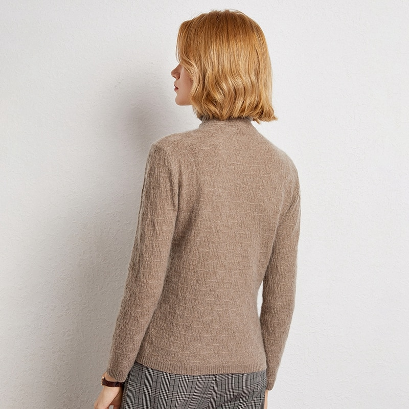 Women Pullovers 100% Pure Goat Cashmere Knitted Sweaters Hot Sale Top Grade Standard Clothes Ladies Jumpers enlarge