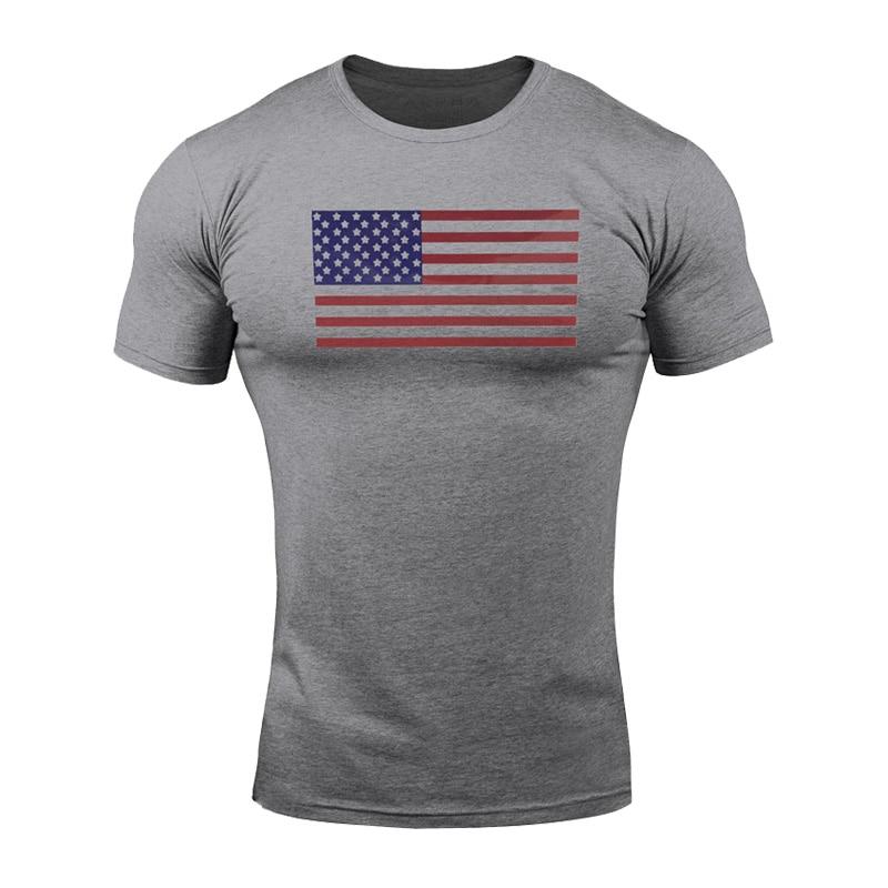 T-shirt ropa hombre usa National flagge druck t shirt für männer baumwolle shirts gym bekleidung Mens casual kurzarm sommer top