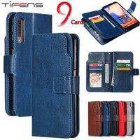 Чехол-бумажник для Samsung Galaxy A7, A8, A6 Plus 2018, A5, A3 2017, 2016, 2015, кожаный