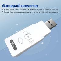 DS50 беспроводной адаптер для джойстика стандарта планшетов PS5/Nintendo Switch/Switch Lite/PS4/PS3/ПК Bluetooth контроллер приемник