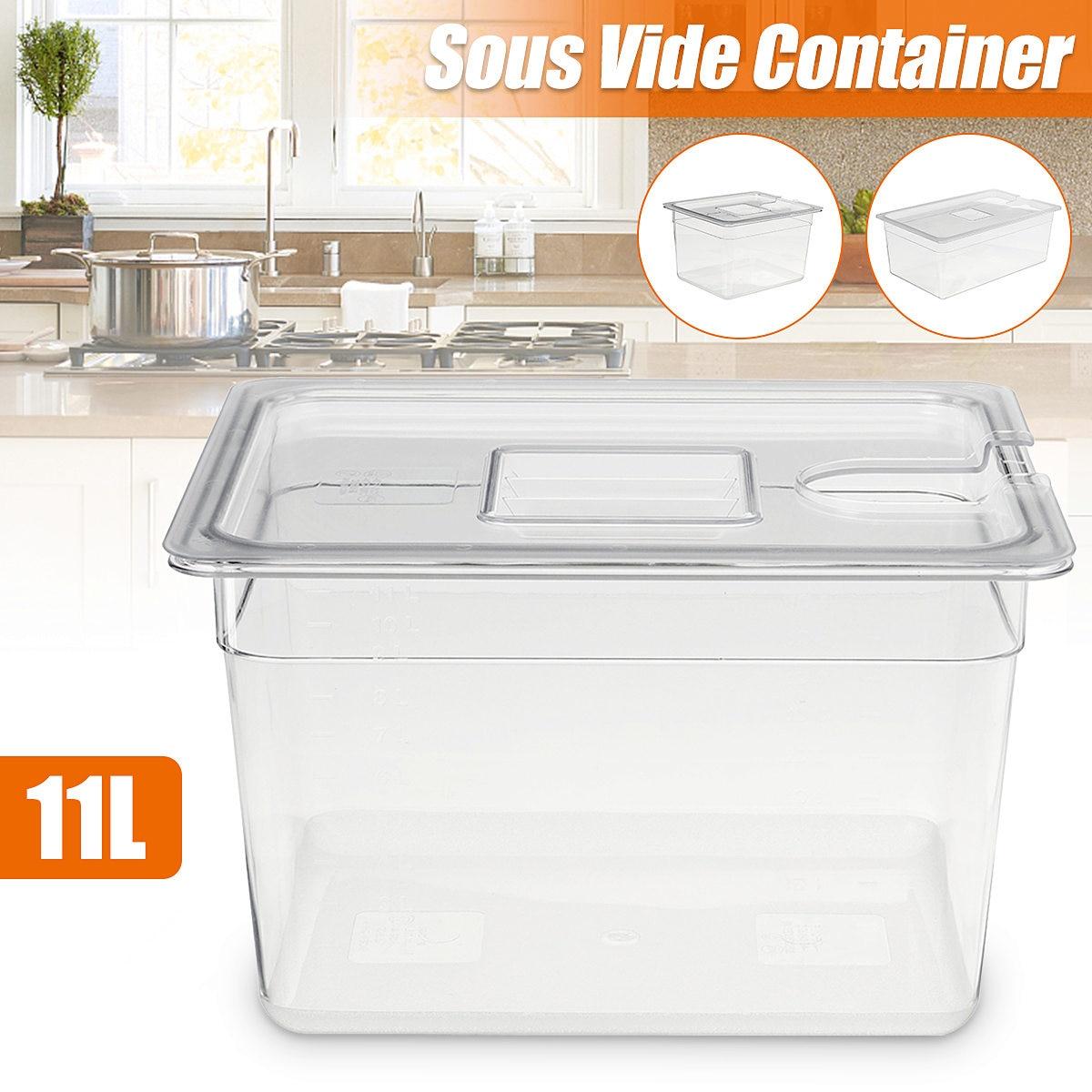 Recipiente de cocina de 11L Sous Vide, estante de acero inoxidable Sous...