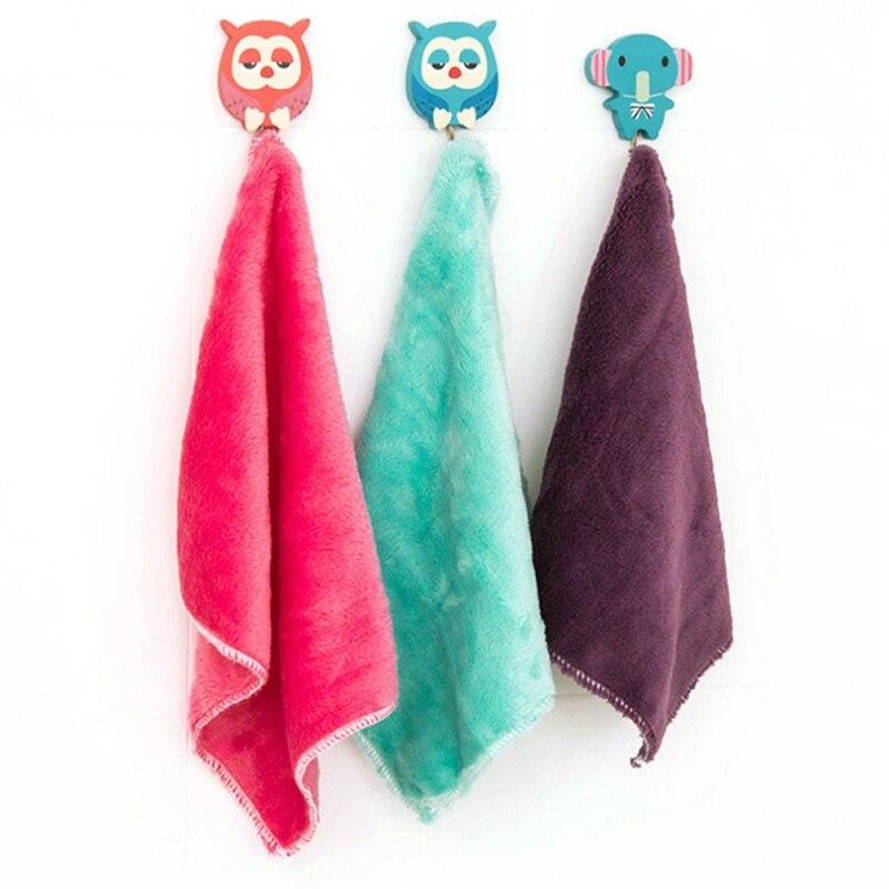5 pçs pano de fibra de bambu não-gorduroso toalha de pano de lavagem de louça pano de limpeza macio portátil ferramenta de limpeza de cozinha cor aleatória novo-