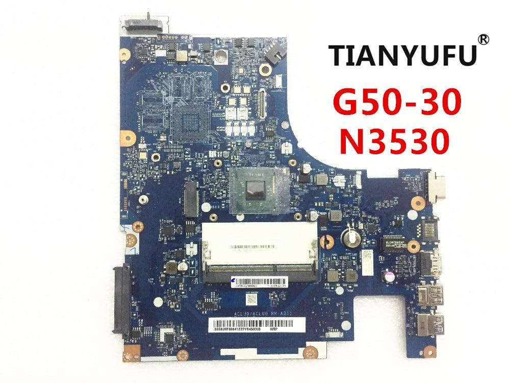 ACLU9/ACLU0 NM-A311 материнская плата для Lenovo G50 G50-30 материнская плата для ноутбука (для процессора intel N3530) протестирована на 100%