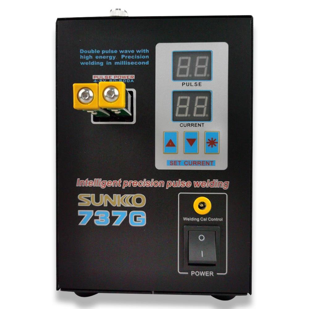 Ukraine warehouse Dual Digital Display Battery Spot Welding Machine SUNKKO 737G Lithium Battery Welding Machine