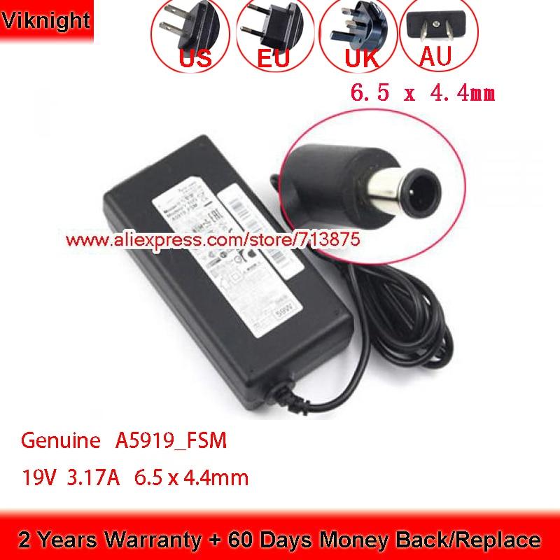 حقيقية 19V 3.17A UE32J4000 A5919-FSM AC محول A5919_FSM لسامسونج التلفزيون رصد UE32J4500 UE32J4510 32 التلفزيون UN32J5003AF