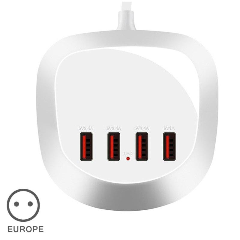 4 USB Ports Power Streifen Adapter Ladegerät für Reise Handy Smartphone Tablet SGA998