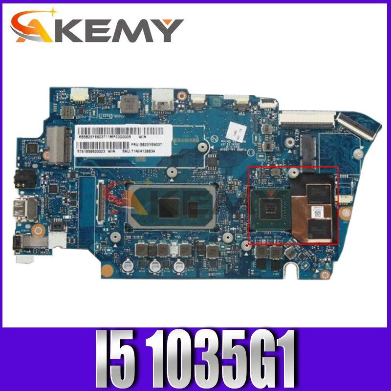اللوحة الرئيسية لينوفو ايديا باد 5-14IIL05 اللوحة الأم LA-J551P اللوحة الأم مع وحدة المعالجة المركزية I5 1035G1 RAM 16G 100% اختبار