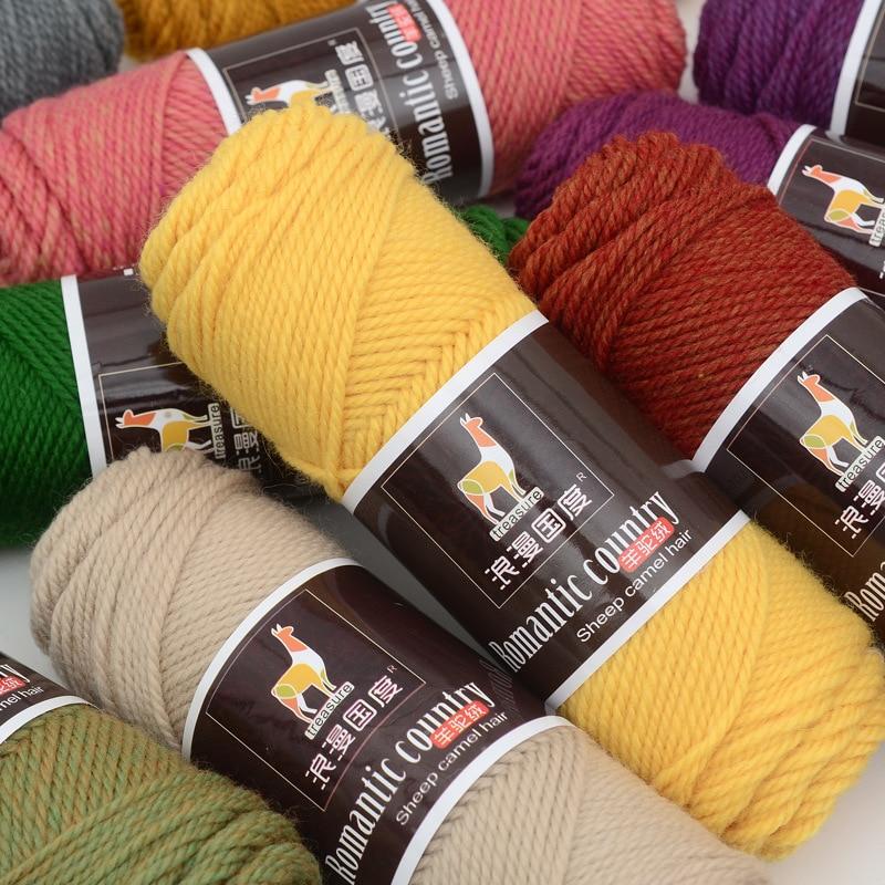 500 g/set hilo manual para tejer colorido hilo de ganchillo accesorios de costura diy hilo de lana
