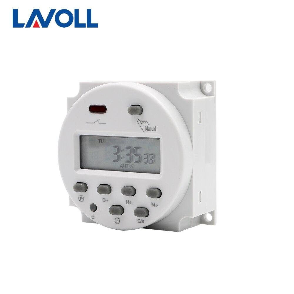 Interruptor bonde programável do temporizador com atraso do temporizador 12v relé 12v 24v 110v 220v interruptor de luz digital