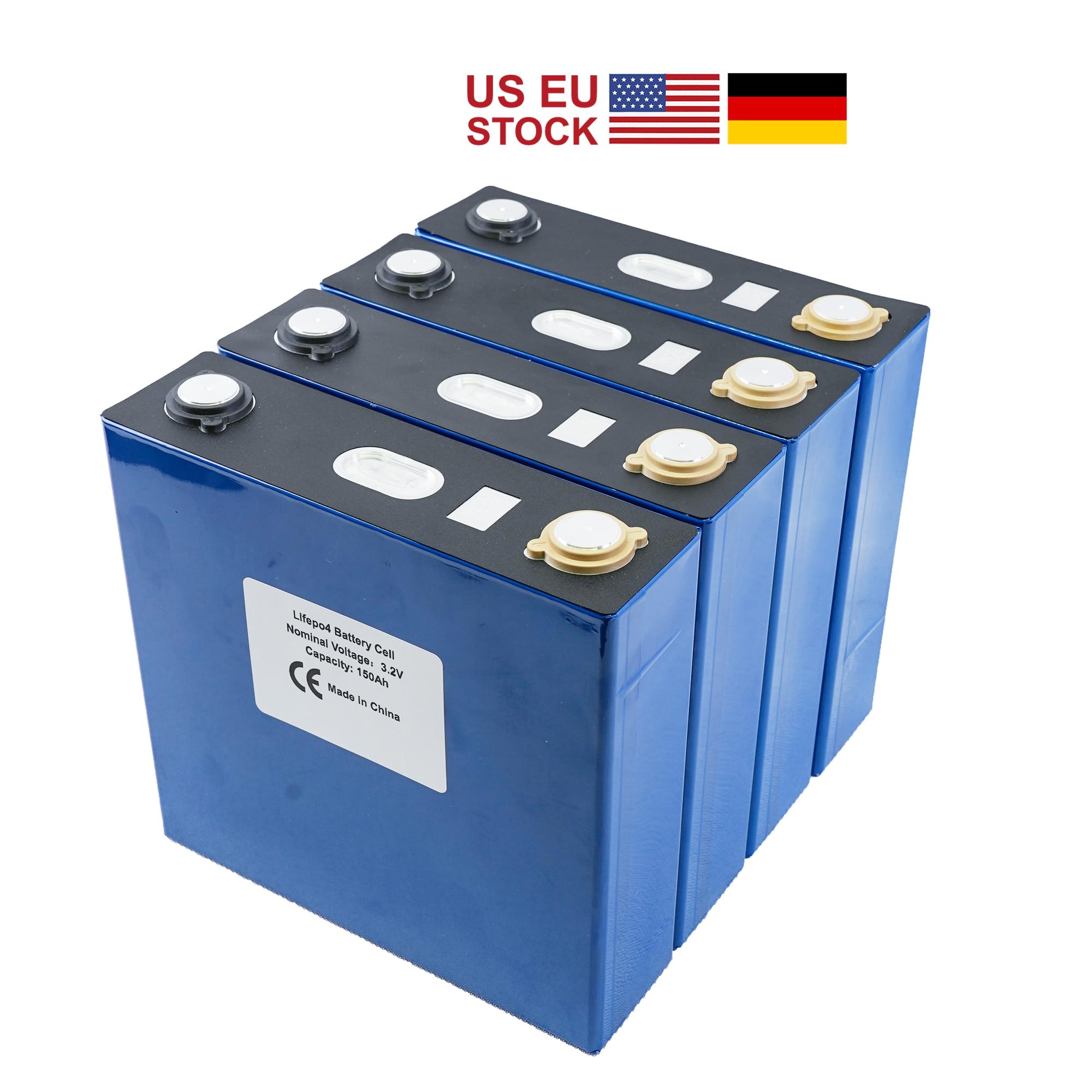 4 قطعة الصف 3.2 فولت 120Ah ليثيوم الحديد الفوسفات خلية Lifepo4 بطارية دورة 4000 مرات الشمسية 12 فولت 176Ah 200AH الاتحاد الأوروبي الولايات المتحدة معفاة من ا...