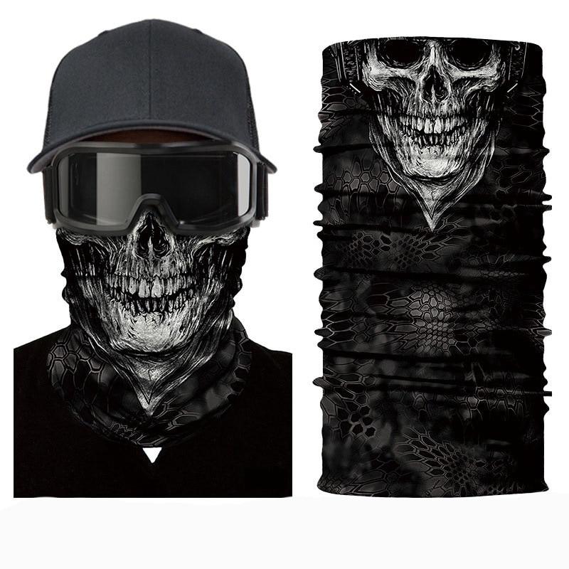 Бандана с 3d-черепом, головные уборы, аксессуары для волос, головные уборы, мотоциклетный велосипедный головной убор для езды на велосипеде, ...