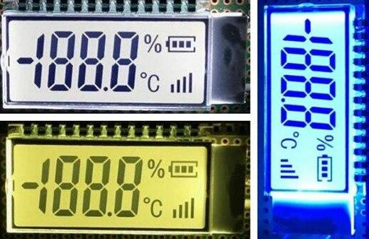 13PIN TN Positive 3-1/2 Ziffern Segment LCD Panel Weiß/Gelb Grün/Blau/Grau Hintergrundbeleuchtung 3V