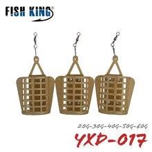Pez rey 20G 30G 40G 50G 60G alimentador herramienta de pesca accesorios cebo jaula carpa pesca conector plomo pesca aparejo