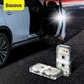 Baseus 4Pcs 6 LEDs Car Openning Door Warning Light Safety Anti-collision Flash Lights Wireless Magnetic Signal Lamp