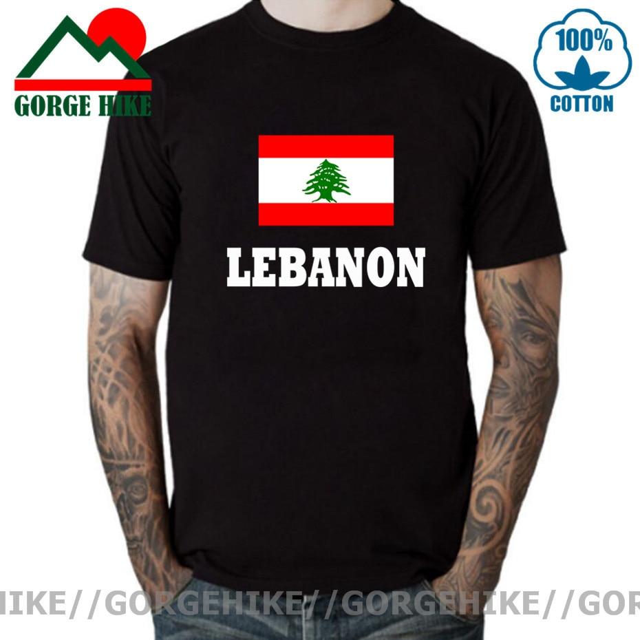 GorgeHike GorgeHike T Shirt Men Lebanon Flag T shirt Fashion Brand Clothing Clothes Men & Women Unisex Short Sleeve Mans T-shirt