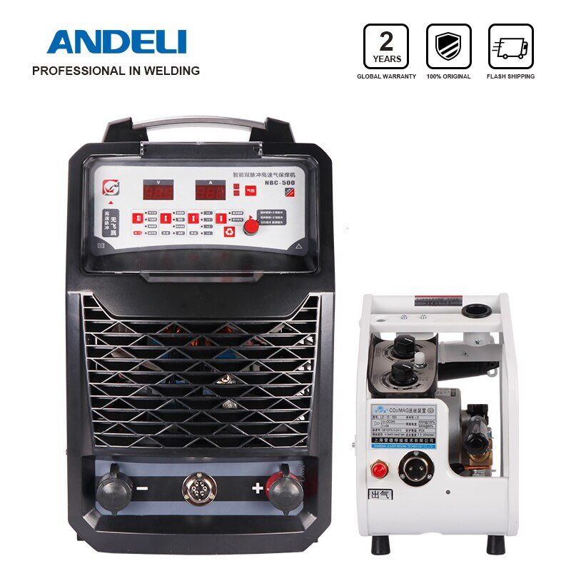 ANDELI Intelligent Three phases MIG-500FP Lasser Inverter Carbon Steel Double pulse Split MIG welder Lasmachine welding machine steel pulse steel pulse victims