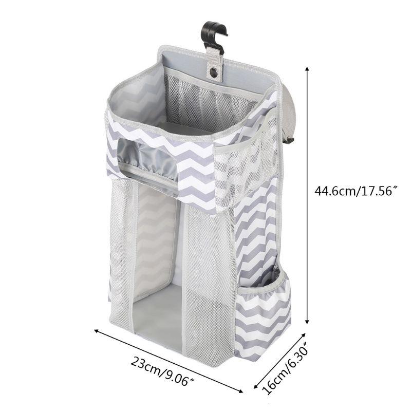 Organizador de pañales bolsas de almacenaje para colgar para cuna o pared regalos para Baby Shower K1KC