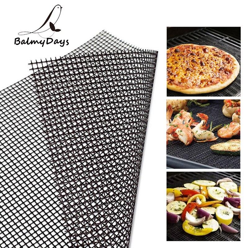 Parrilla BBQ Mat reutilizable barbacoa Grill alfombra de malla antiadherente Teflon cocina Smoker BBQ Mat Grill Pad Liner BBQ Accesorios