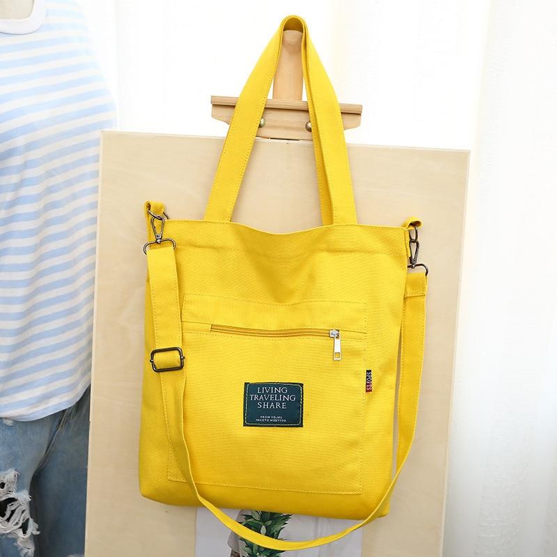 Fashion Women Shoulder Bags 2020 Brand New Letter Canvas Soft Letter Messenger Bags Female Students Girls School Bags Handbags