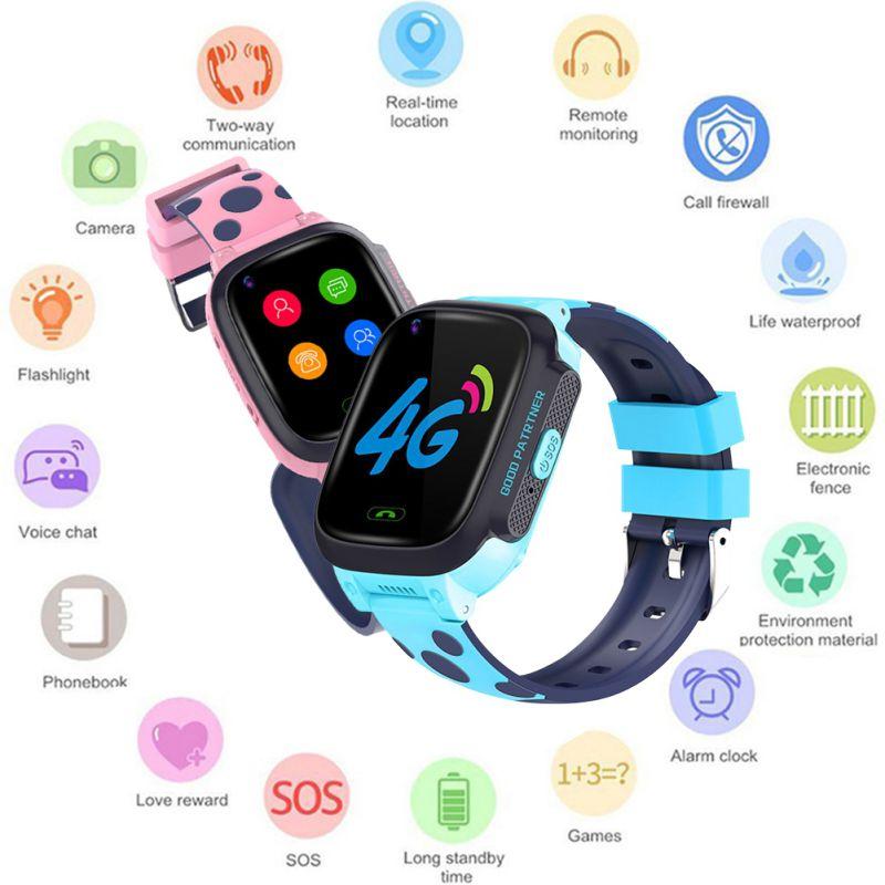 Y95 dla dzieci smart watch połączenia wideo GPS + wifi + LBS Tracker telefon 4G dla dzieci zegarek na rękę Smartwatch dziewcząt chłopców urodziny prezenty