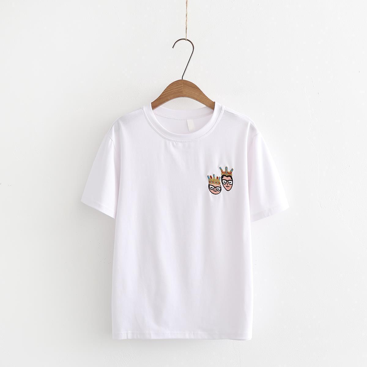 Camiseta de verano para mujer, Camisetas estampadas, Tops femeninos, camisetas de manga corta, camisetas