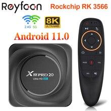 X88 PRO 20 TV Box Android 11 8GB RAM 128GB ROM Rockchip RK3566 Support 4K 8K 24fps USB3.0 Google Ass