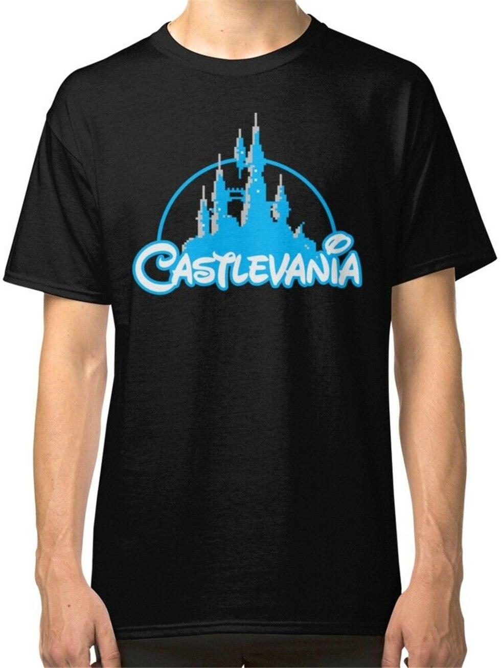 Castlevania camisetas negras para hombre de talla grande ropa camiseta nuevo diseño de moda para hombres y mujeres