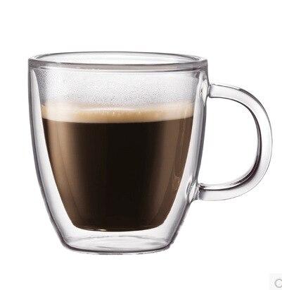 Taza de cristal Borosilicate hecha a mano de doble capa, taza de cristal, taza transparente aislada, taza de café, creativa cerveza Steins Juice