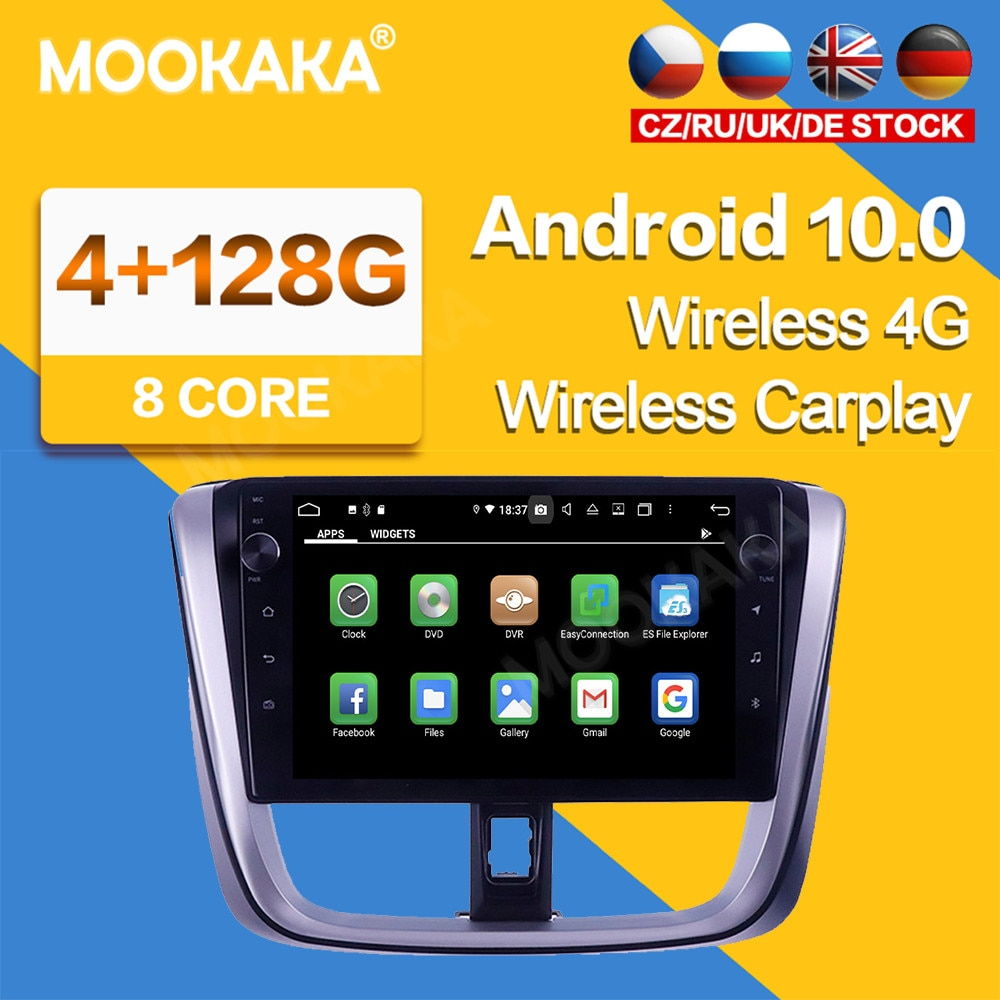10'' Android 10 IPS System Car Stereo Radio GPS Navigation For Toyota Vios Yaris 2014-2017 Radio Mul