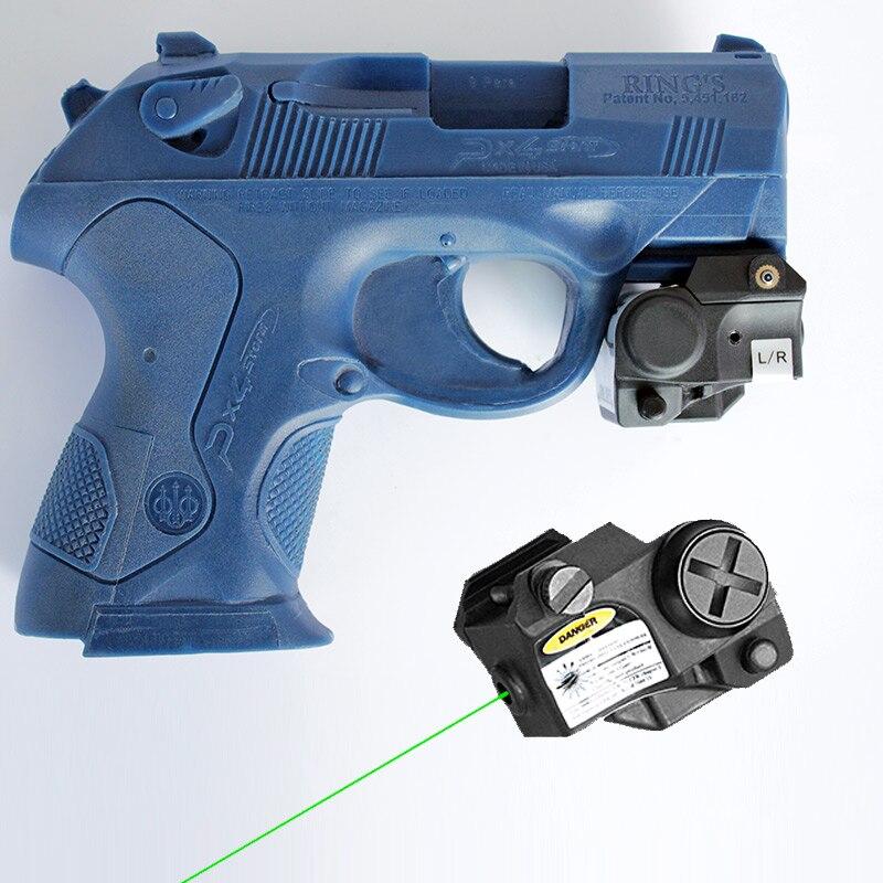 Mira laser subcompacta glock 17, mira laser verde para armas de autodefesa, picatinny, mira laser, escopo ponteiro