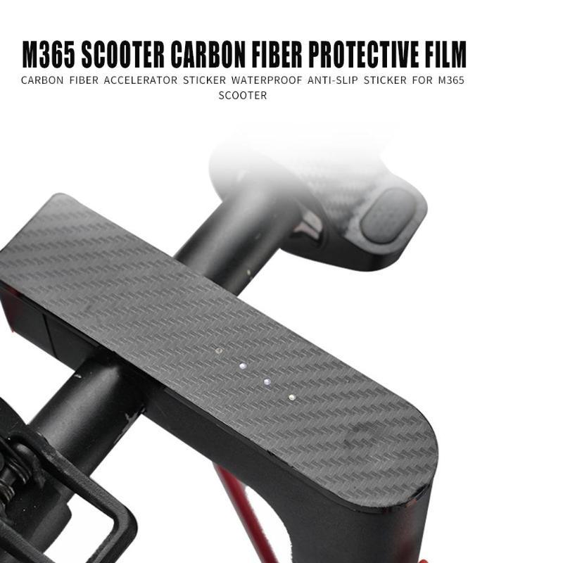 Autocollant Scooter électrique pour Xiaomi Mijia M365 Pro fibre antidérapante carbone contrôleur Central Film de protection Scooter accessoires