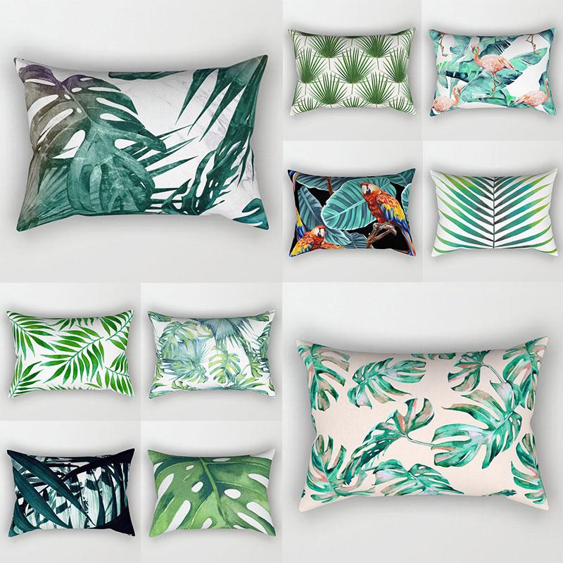 Декоративные диванные подушки тропический подушки для растений, покрытие 30x50 чехол для подушки из полиэстера украшение наволочка подушки д...