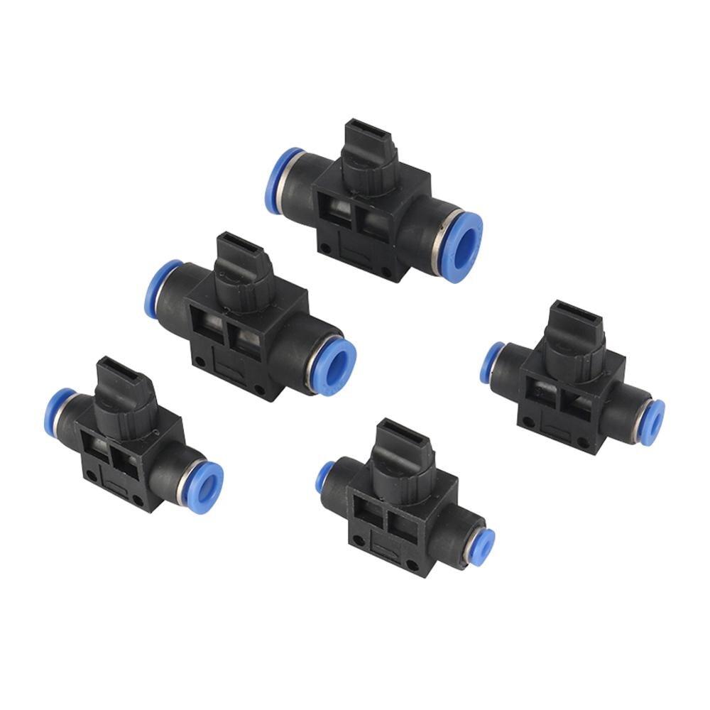Пневматический ручной клапан 4 мм 6 мм 8 мм 10 мм 12 мм диаметр шланга трубы пуш-ап в подключение T-joint 2-полосная ограничение потока Скорость Управление