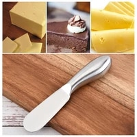 butter knife stainless steel cheese butter cutter with hole multifunction wipe cream bread knife cheese board kitchen gadgets