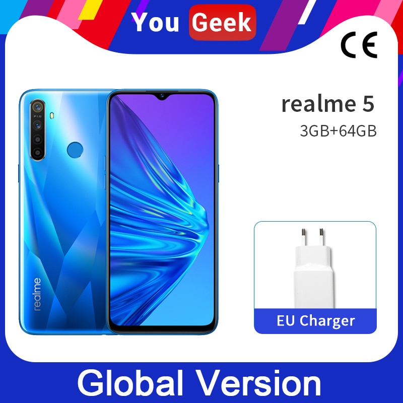 Realme 3 pro versão global 3 gb ram 64 gb rom snapdragon 710 aie smartphone 4045 mah bateria celular vooc carga rápida 3.0
