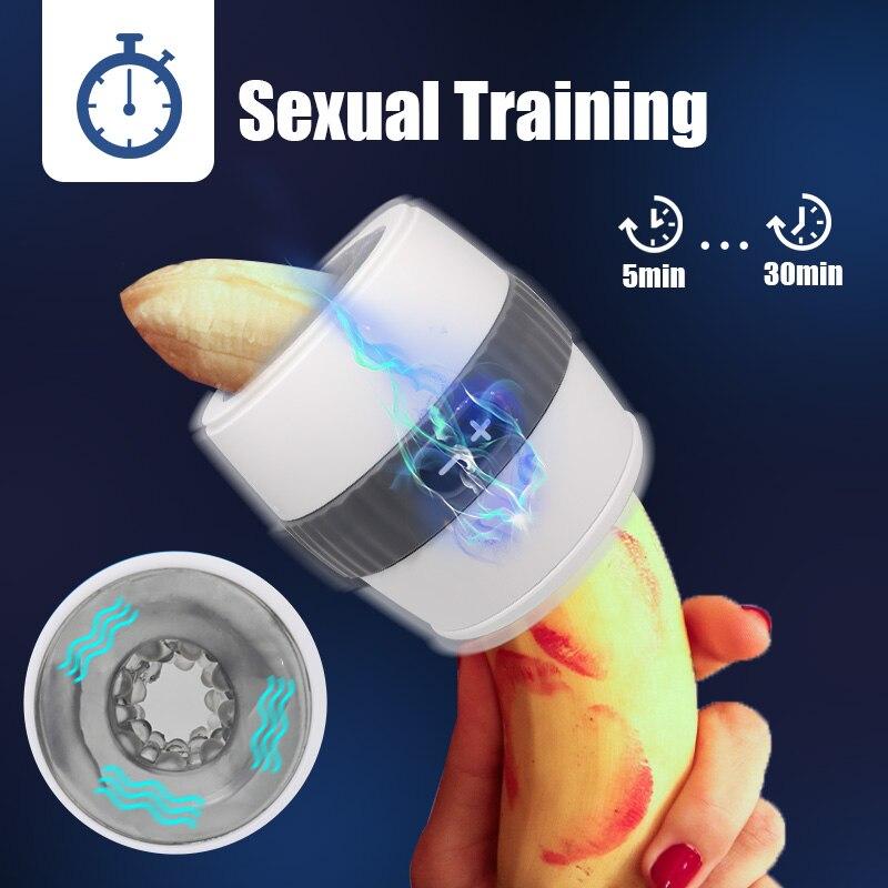 Automatic Male Masturbator Cup Open-Ended Design Vagina Masturbation Vibrator Adult Anal Blowjob Pussy Stimulate Sex Toy For Mem