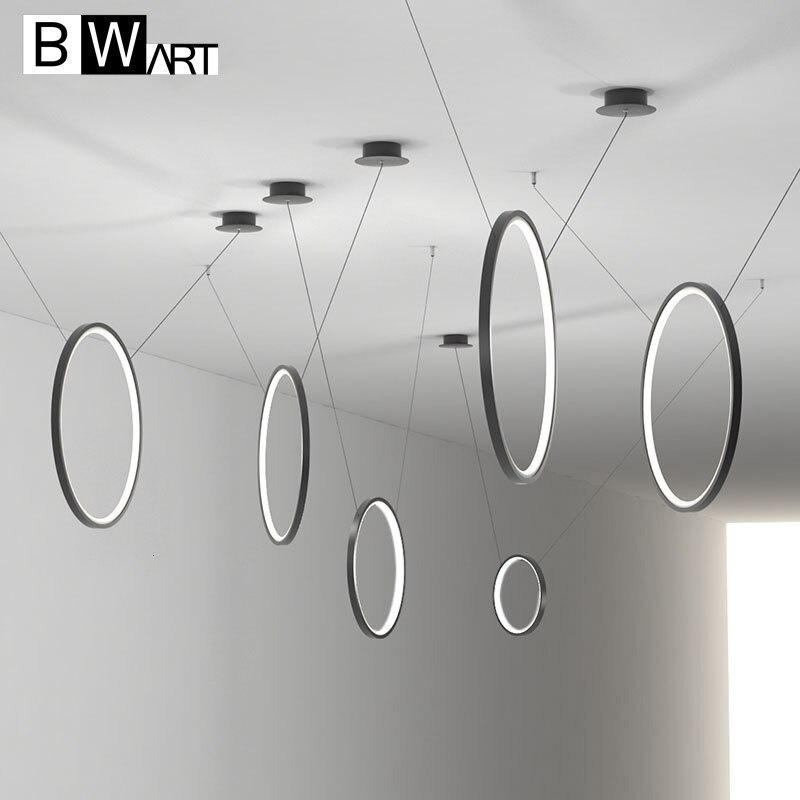 BWART-مصباح معلق Led دائري من الألومنيوم ، تصميم حديث ، إضاءة زخرفية داخلية ، مثالي لغرفة المعيشة أو غرفة الطعام أو غرفة العمل.