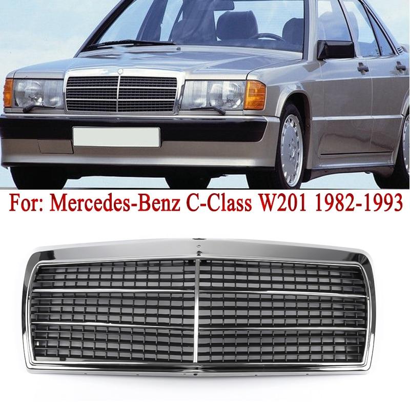 MagicKit, rejilla de radiador cromada, compatible con Mercedes Benz Clase C 190D 190E W201