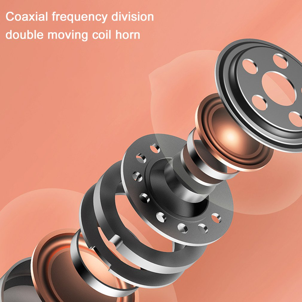 Wireless Earphones Double Moving Coil Speakers Call Noise Reduction In-ear Sports Waterproof Bilateral Stereo Earphones enlarge
